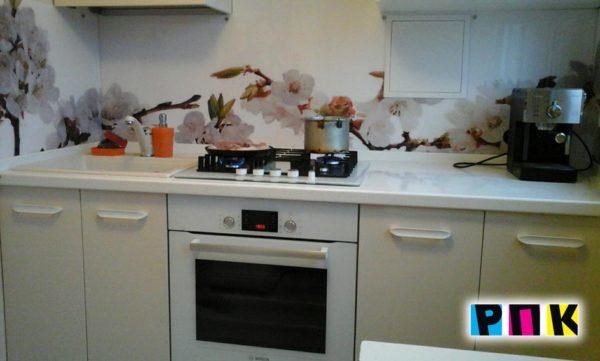 фартуки на кухню, печать на стекле