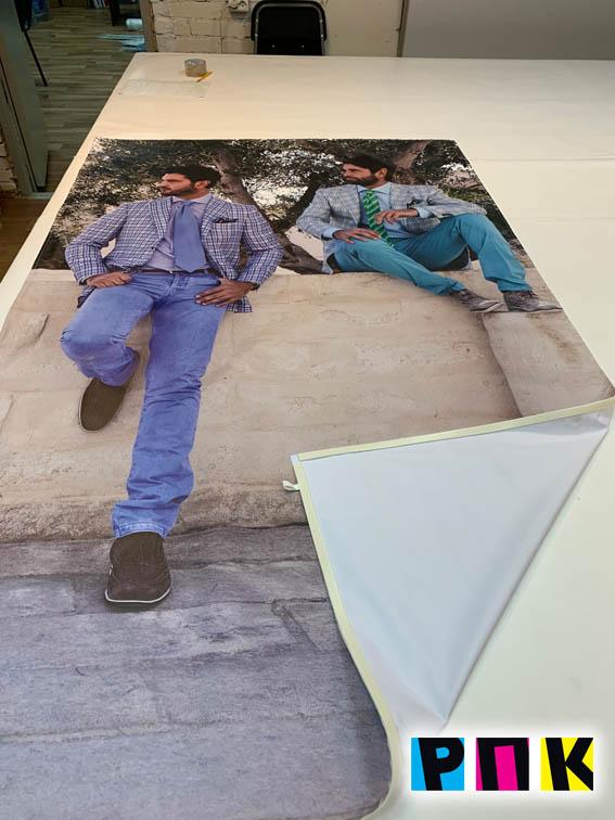 печать на ткани для световых лайтбоксов